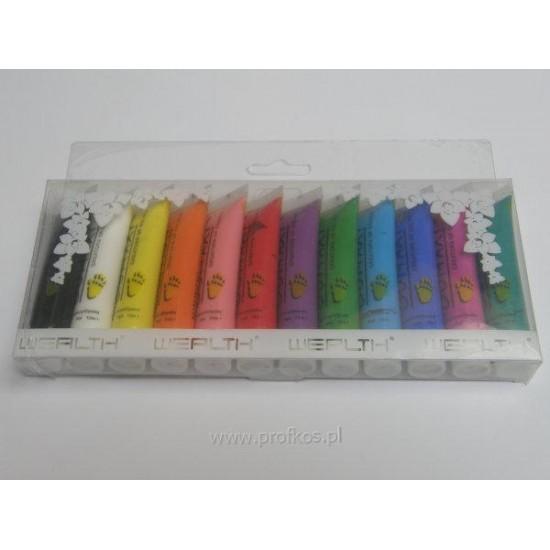 Farbki akrylowe Oumaxi komplet 12 x 12 ml