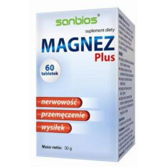 Magnez Plus Sanbios 60 tabletek