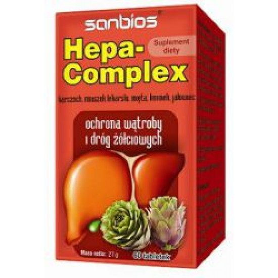 Hepa-Complex ochrona wątroby Sanbios 60 tabletek
