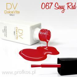 Lakier hybrydowy UV nr 067 Sexy Red Dolce Vita