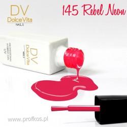 Lakier hybrydowy UV nr 145 Rebel Neon Dolce Vita