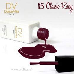 Lakier hybrydowy UV nr 115 Classic Ruby Dolce Vita