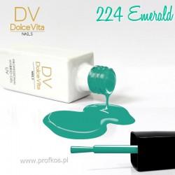 Lakier hybrydowy UV nr 224 Emerald Dolce Vita