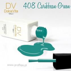 Lakier hybrydowy UV nr 408 Caribbean Green Dolce Vita