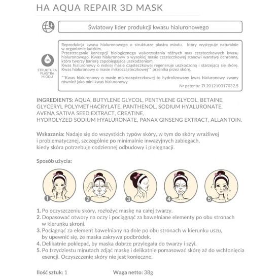 BioHyalux - hialuronowa maska regenerująca 3D w płacie