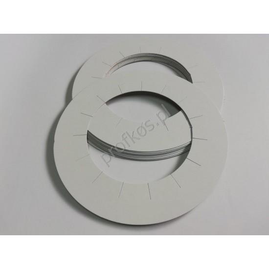 Pierścienie - osłonki papierowe na puszkę z woskiem 10szt