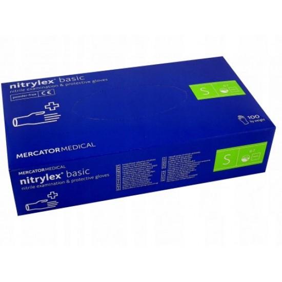 Rękawice nitrylowe bezpudrowe 100 szt