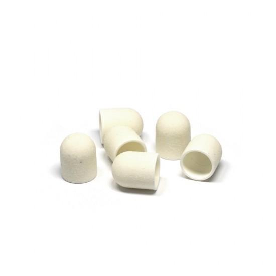 Kapturki ścierne białe do frezarki do pedicure 13 mm
