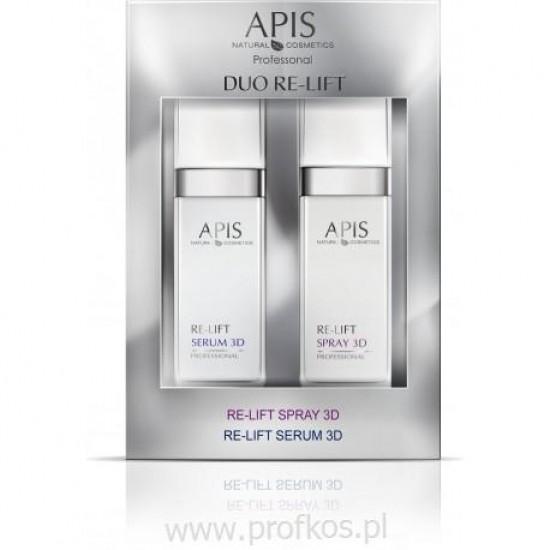Botoks w sprayu Duo Re-Lift Spray 3D & Re-Lift Serum 3D Apis 2x50 ml