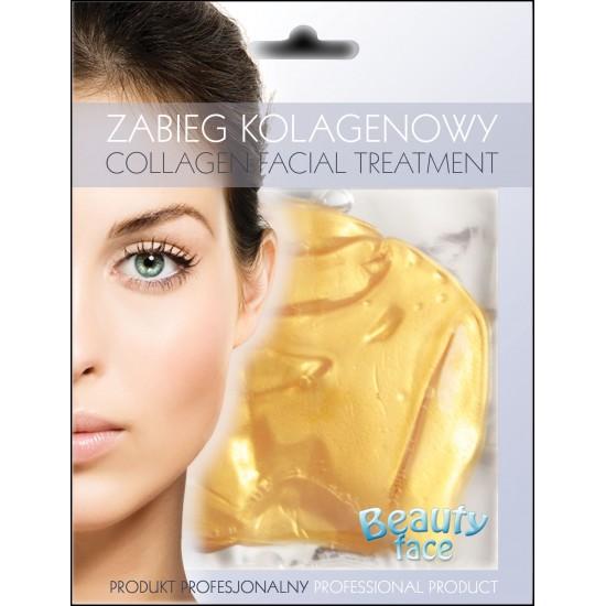 Maska Kolagenowa do twarzy z 24K złotem i kwasem hialuronowym
